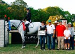Xel Ha and Michelle Parker take 1st and 2nd in the Jumper Classic. Other members of her team pictured are: Salvador Alvarado (2nd from left), Armando Salazar (3rd from left in back), Albert Pinella (4th from left), and Tula Pinella (far right).